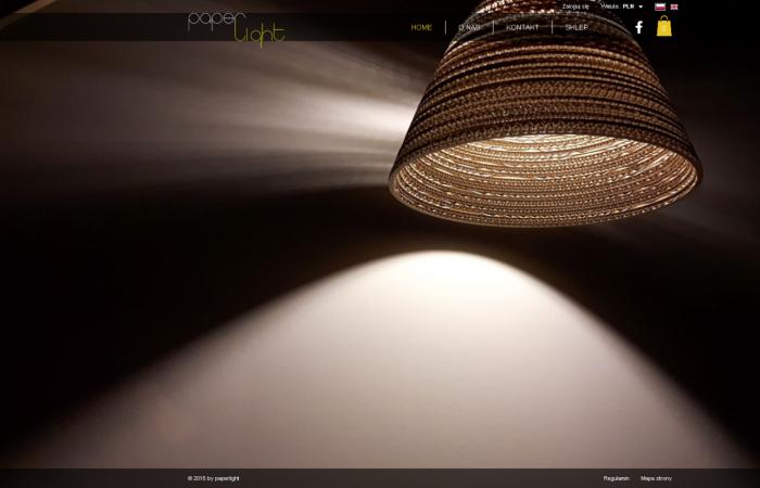 Sklep internetowy dla firmy PaperLight