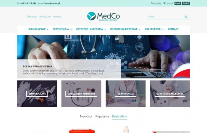 Sklep internetowy z asortymentem medycznym