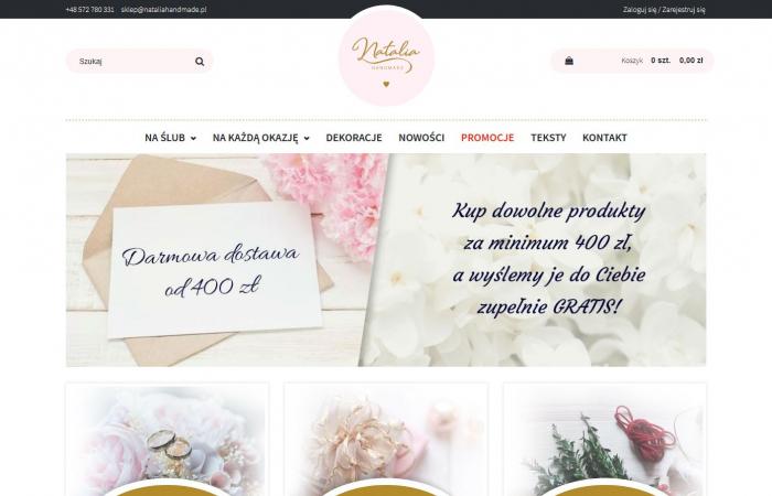 Sklep internetowy z indywidualnym projektem