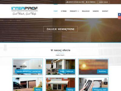 Strona www dla firmy INTERPROF