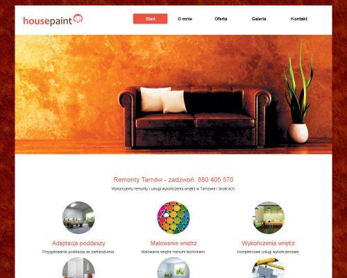 Strona www dlaf firmy HousePaint