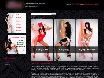 Strona www dla Nicole