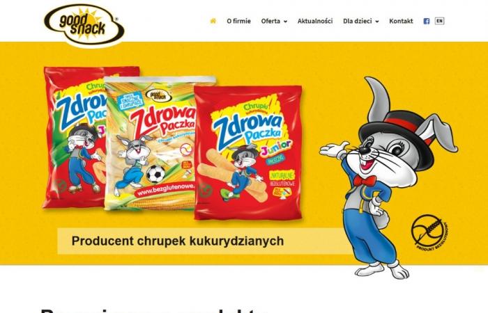 Strona internetowa dla firmy Good Snack