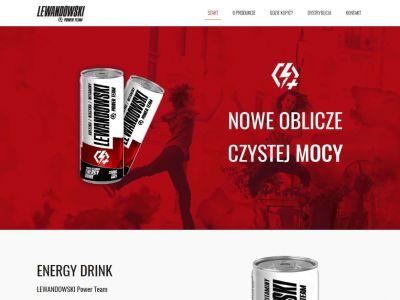 Strona www dla napoju energetycznego