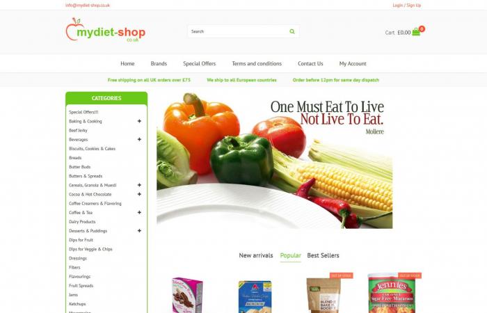 Sklep internetowy ze zdrową żywnością