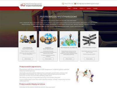 Strona www dla firmy zajmującej się organizacją przeprowadzek międzynarodowych