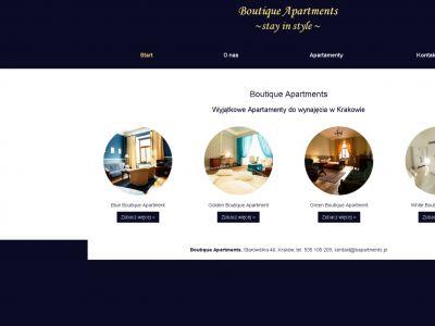 Strona www dla Boutique Apartments