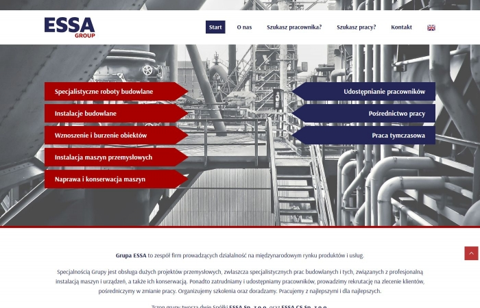 Strona www dla ESSA Group