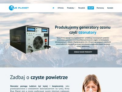 Strona internetowa dla BluePlanet