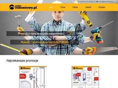 Strona www dla marketu budowlanego