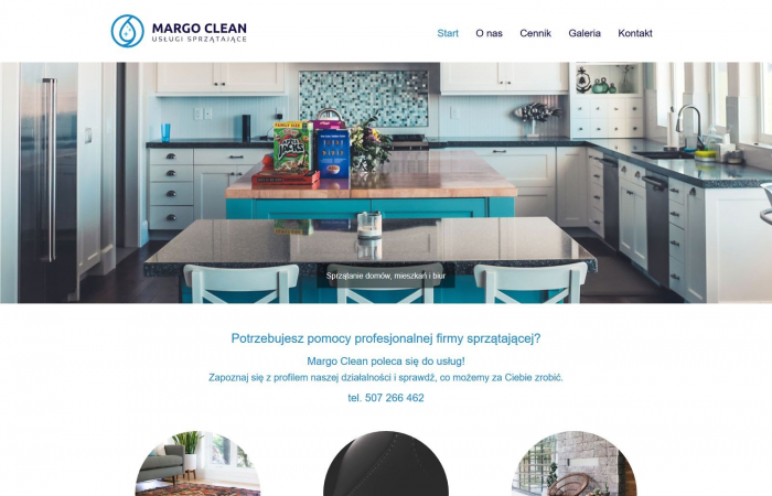 Strona internetowa dla firmy sprzątającej