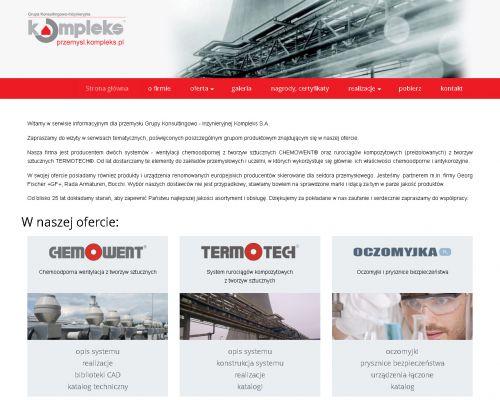 Strona www dla firmy Kompleks