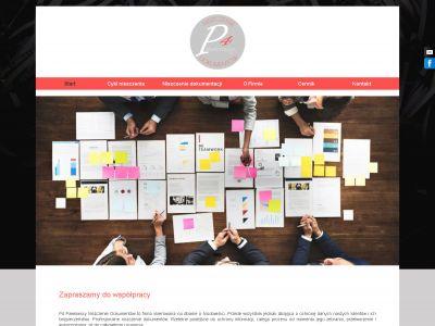 Strona www dla firmy zajmującej się niszczeniem dokumentów