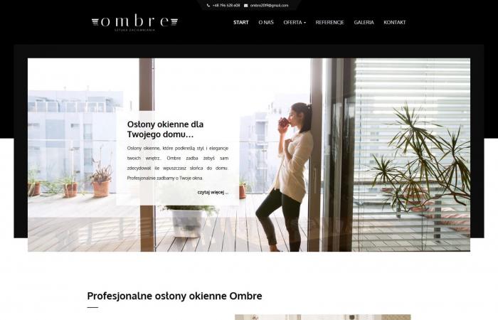 Strona internetowa dla producenta rolet