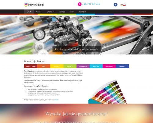 Strona www dla drukarni Point Global
