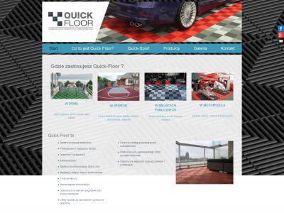 Strona www dla firmy Quick Floor