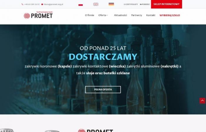 Responsywna strona www dla dostawcy opakowań