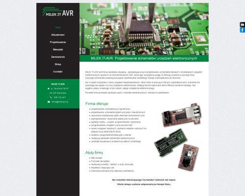 Strona www dla firmy  MILEK-IT-AVR