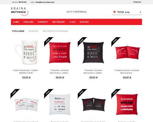 Sklep internetowy z produktami motywacyjnymi.