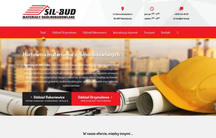 Strona www dla firmy Sil-Bud