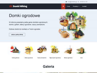 Strona internetowa Domki Wiking