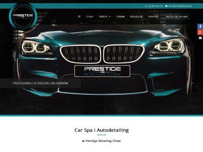 Strona www dla firmy Prestige Detailing