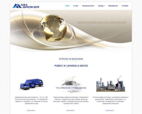 Strona www dla firmy AIM Broker