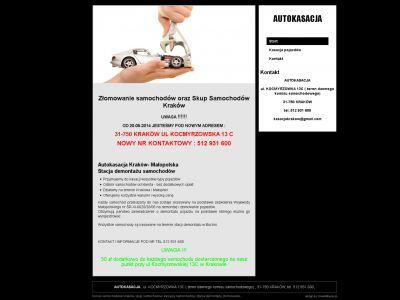 Strona www dla firmy Autokasacja