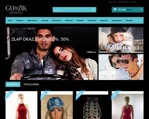 Sklep internetowy dla firmy Gu-Zik