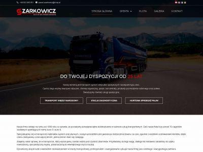 Strona www dla firmy transportowej.