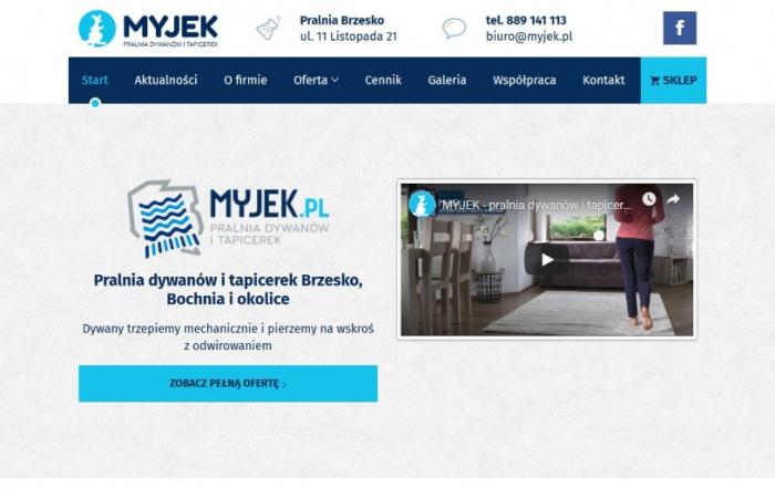 Strona internetowa dla firmy Myjek