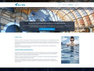 Strona www dla firmy All Spa
