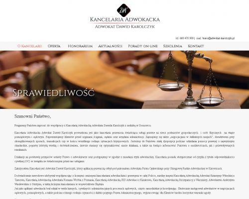 Strona www dla Adwokata