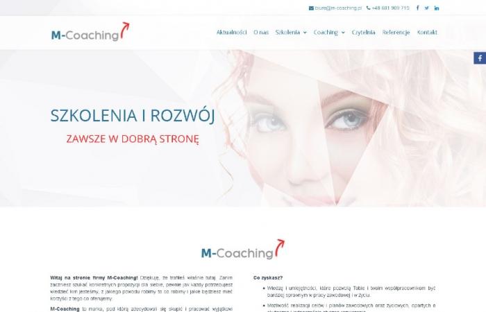 Strona www dla firmy coachingowej