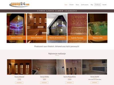 Strona www dla firmy Sauny24