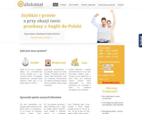 Strona www dla firmy Walutomat