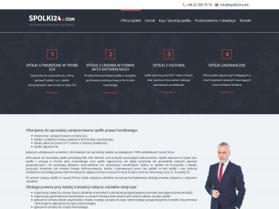 Strona internetowa oferująca zarządzanie spółkami