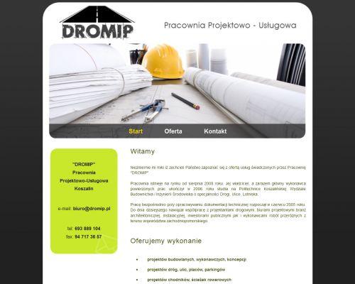 Strona www dla firmy DROMIP