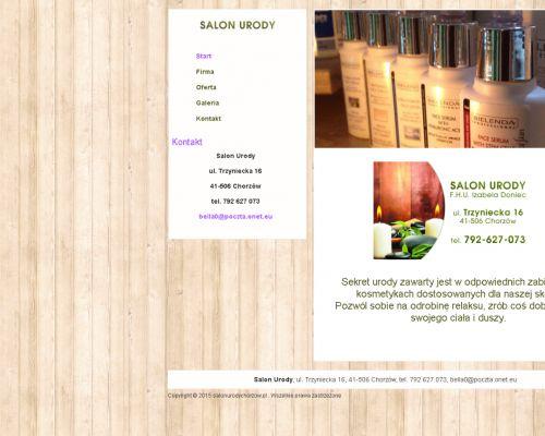 Strona www dla Salonu Urody