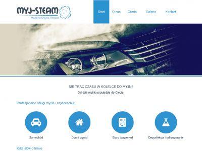 Strona www dla firmy Myj Steam
