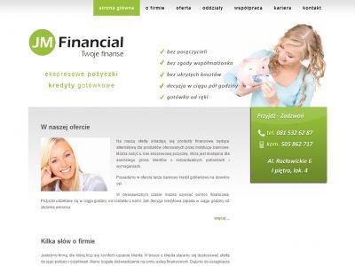 Strona www dla firmy JM Financial