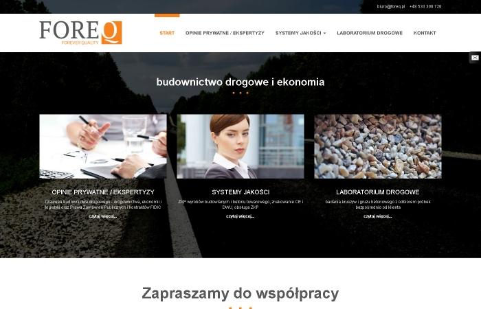 Strona www dla firmy FOREQ