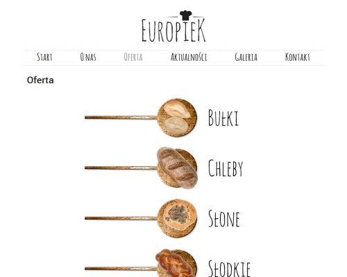 Strona www dla firmy Europiek