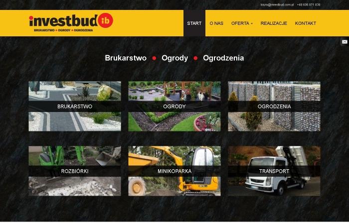 Strona www dla firmy InvestBud