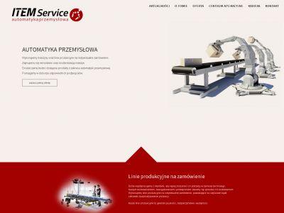 Strona internetowa dla firmy ITEM Service