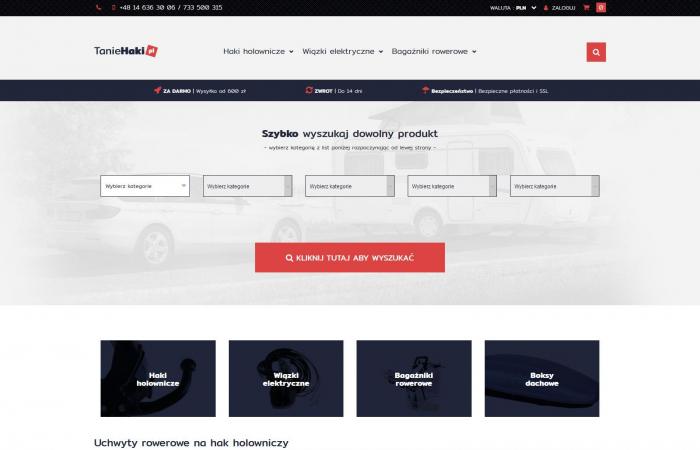 Sklep internetowy z hakami holowniczymi