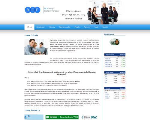 Strona www dla Broker Commercial Finance