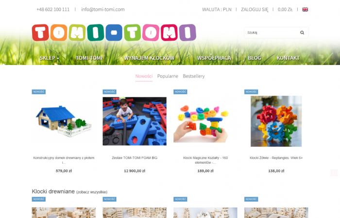 Sklep internetowy z zabawkami