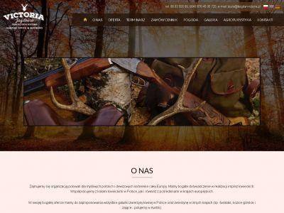 Strona www dla firmy zajmującej się organizacją polowań