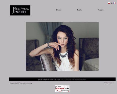Strona www dla firmy produkującej biżuterię